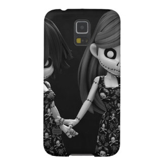Gothic Rag Dolls BW Galaxy S5 Cases