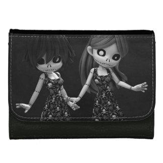 Gothic Rag Dolls BW Wallets For Women