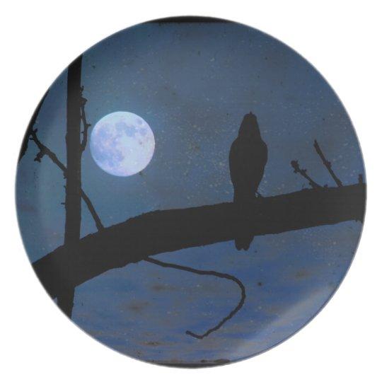"Gothic Raven Black Bird & Blue Moon 10"""