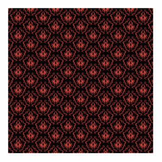 Gothic Red and Black Damask Pattern. Cut Out