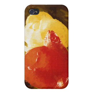 Gothic Red & Yellow Tulips iPhone 4 Cover