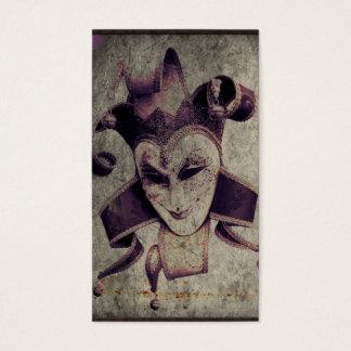 Gothic Renaissance Evil Clown Joker Business Card