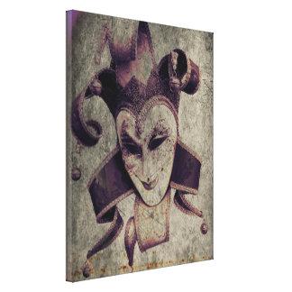 Gothic Renaissance Evil Clown Joker Canvas Print