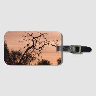 Gothic Romanticism Bird on a Winter Tree Luggage Tag
