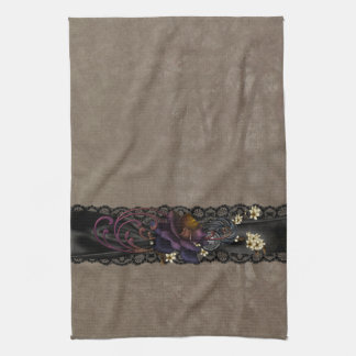Gothic Rose and Black Lace Tea Towels