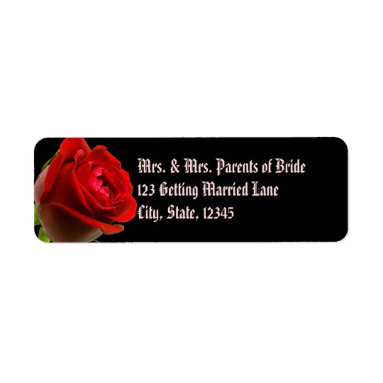 Gothic Rose Avery Label Return Address Label