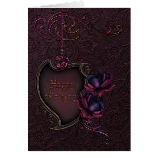 Gothic Rose Birthday Card