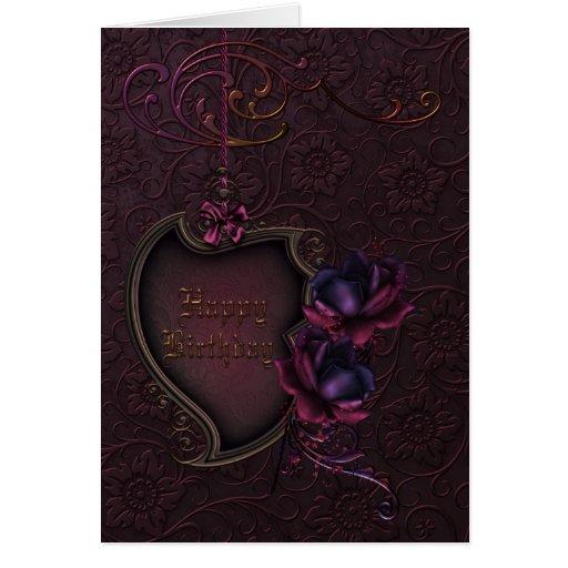 Gothic Rose Birthday Cards