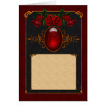 Gothic rose card