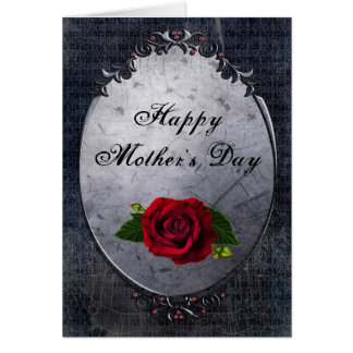 Gothic Rose Cobwebs Mother s Day Card