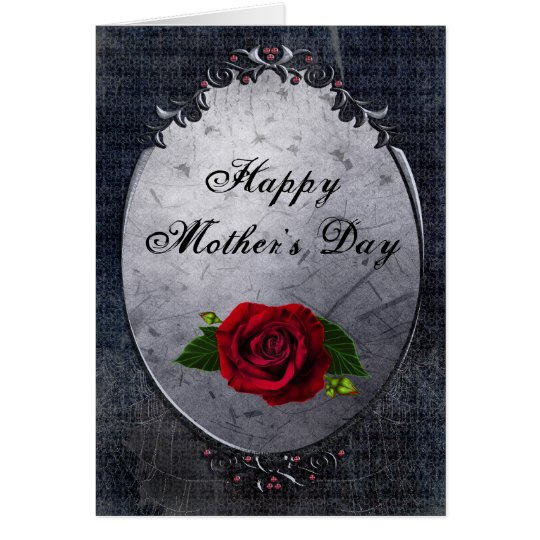 Gothic Rose & Cobwebs Mother's Day Card