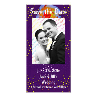 Gothic Rose Dotty Save the Date Photo Card
