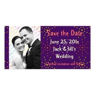 Gothic Rose Dotty Wedding Photo Card Template
