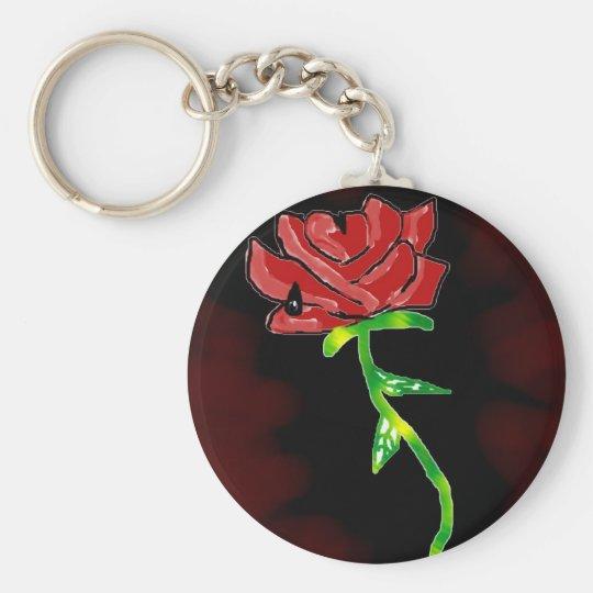 Gothic Rose Keychain