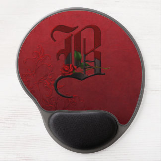 Gothic Rose Monogram B Gel Mouse Pad