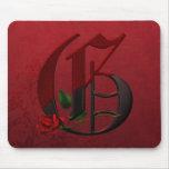 Gothic Rose Monogram G