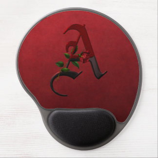 Gothic Rose Monogram Gel Mouse Pad