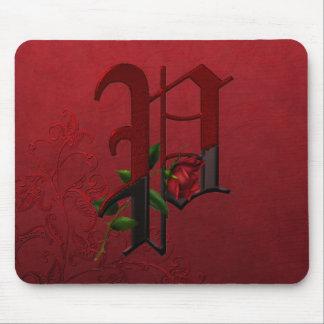 Gothic Rose Monogram P Mouse Pad