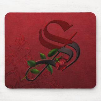 Gothic Rose Monogram S Mousepad