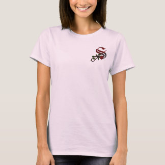 Gothic Rose Monogram S T-Shirt