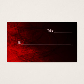 Gothic Rose Place Cards Business Card