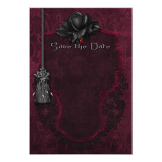 Gothic Save the Date Card