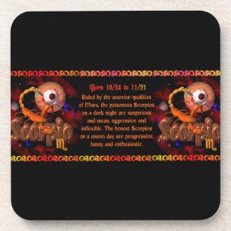 Gothic Scorpio zodiac astrology by Valxart.com Coaster