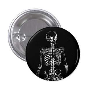 GOTHIC SKELETON 3 CM ROUND BADGE