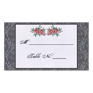 Gothic Skeleton Hands and Rose Wedding Place Cards Business Card Template