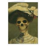 Gothic Skeleton Lady Greetings Card