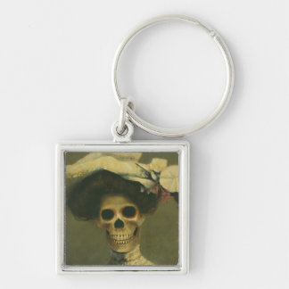 Gothic Skeleton Lady Key Chain