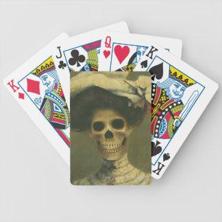 Gothic Skeleton Lady Playing Cards
