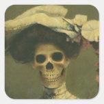 Gothic Skeleton Lady Sticker