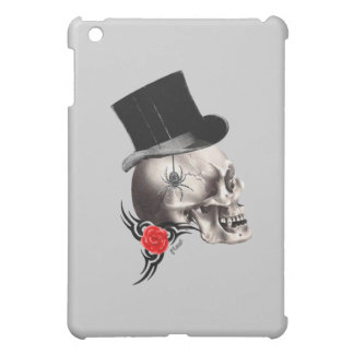 Gothic skull and rose tattoo style iPad mini case