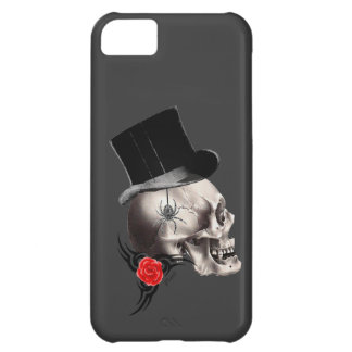 Gothic skull and rose tattoo style iPhone 5C case