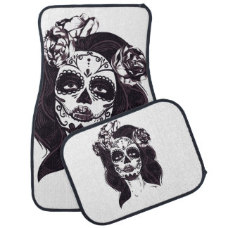 Gothic Skull Car Mat