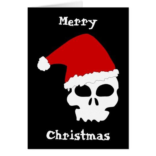 Gothic Skull Christmas Card