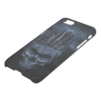 Gothic Skull City iPhone 7 Clearly™ Deflector Case