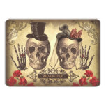 Gothic Skull Couple Day of The Dead Wedding Invite 13 Cm X 18 Cm Invitation Card
