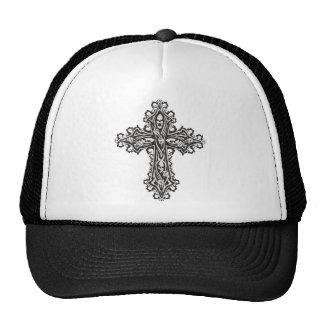 Gothic Skull Cross Trucker Hat