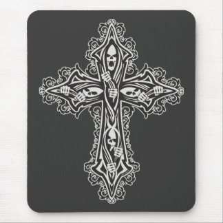 Gothic Skull Cross Mouse Pads