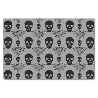Gothic Skull Damask Tissue Paper