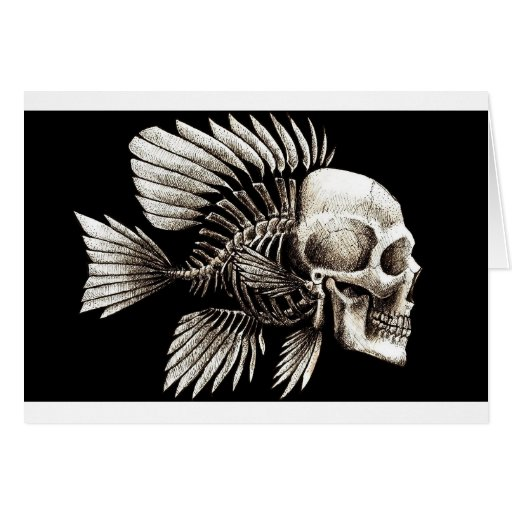 GOTHIC SKULL FISH CARDS