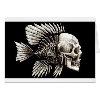 GOTHIC SKULL FISH GREETING CARD