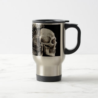 GOTHIC SKULL FISH TRAVEL MUG