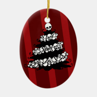 Gothic Skull Garland Tree Christmas Ornament