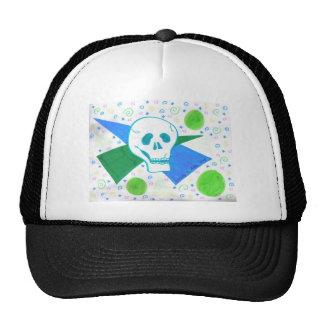 Gothic Skull Green Dot Cap