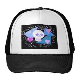 Gothic Skull & Hearts by Wendy C Allen Trucker Hat
