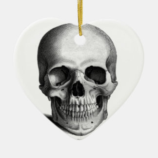 Gothic Skull Horror Fantasy Christmas Ornament