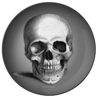 Gothic Skull Horror Fantasy Plate